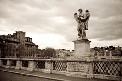 Angel statue, Rome Stock Photos