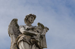 Angel statue, Rome, Italy Royalty Free Stock Images