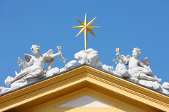Angel statue on roof Royalty Free Stock Image