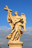 Angel statue in Saint Angel bridge of Rome Royalty Free Stock Image