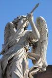 Angel statue. In Saint Angel bridge. Rome, Italy Stock Images