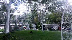 Angel Statue slag trumpeten Arkivbild