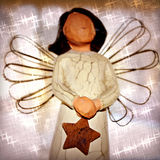 Angel Statue with Star Stock Photography