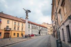 Angel statue in Vilnius Uzupis republic, Lithuania Stock Photography