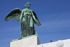 Angel Statue on the World War 1 Maritime Monument Royalty Free Stock Photography