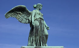 Angel Statue on the World War 1 Maritime Monument Stock Photos