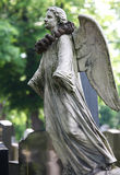 Angel statue on Zentralfriedhof Stock Photo