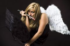 Angel with steel sword Stock Image