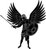 Angel. Stencil. first variant. vector illustration Stock Photos