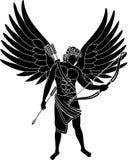 Angel. Stencil. second variant. vector illustration Stock Image