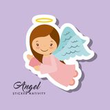 Angel sticker nativity Stock Photography