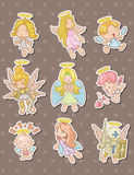 Angel stickers Stock Photo