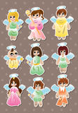 Angel stickers Stock Photography