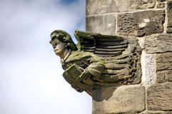 Angel Stone Carving Stock Image