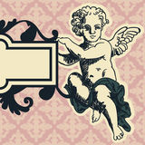 Angel in style of a baroque Royalty Free Stock Photos