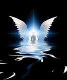 Angel. Submerged white robed being emerges Royalty Free Stock Photography