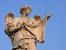 Angel with Sudarium. Rome. Royalty Free Stock Photos