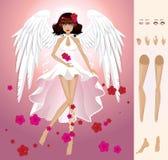 Angel of summer stock illustration
