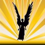 Angel Sunburst Stock Photo