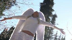 Angel in Sunlight stock video footage