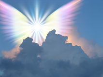 Angel. Supernatural winged being in sky Stock Photography