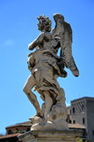 Angel with the Superscription in Rome, Italy Royalty Free Stock Photo