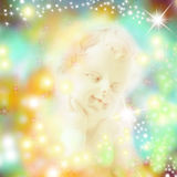 Angel surrounded by stars Royalty Free Stock Photography
