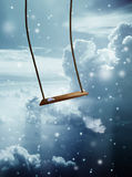 Angel swing Royalty Free Stock Image