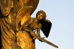 Angel with sword Stock Photos