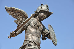 Angel with sword and shield Royalty Free Stock Photography