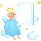 Angel with tablet Stock Images