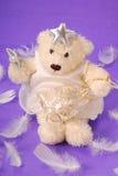 Angel teddy bear Stock Photography
