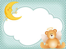 Angel teddy bear on cloud Royalty Free Stock Photography