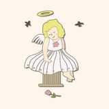 Angel theme elements vector,eps. Vector illustration file Stock Image