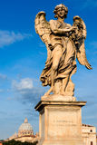 Angel with the thorn crown statue, Rome, Italy Royalty Free Stock Image