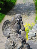 Angel in thoughts, Kamenets Podolskiy, Ukraine stock images