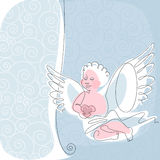 Angel. thread 1. Royalty Free Stock Images