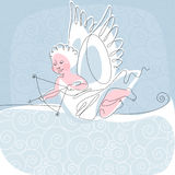 Angel. thread 2. Place for your tex. similar to the portfolio Royalty Free Stock Images