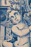 Angel Tiles. Angel in Antique Hand Painted Ceramic Tiles Stock Photography