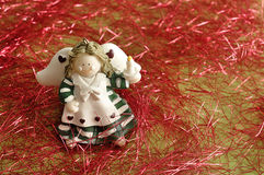 An angel to decorate a Christmas tree Stock Images