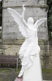 Angel on tombstone Stock Photos