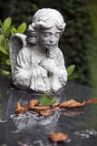 Angel on a tombstone Royalty Free Stock Photos