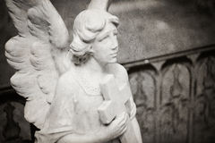 Angel tombstone - textured Stock Photos