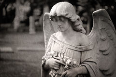Angel tombstone - textured Royalty Free Stock Photography