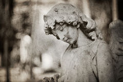 Angel tombstone - textured Royalty Free Stock Images