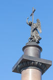 Angel on the topof  the Alexander Column in St.Petersburg Stock Images