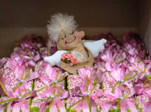 Angel toy from fabric Royalty Free Stock Photo