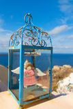 The angel toys on the island. This is a little angel.Town house is most is white walls, there are yellow and pink paint, can often see all kinds of beautiful royalty free stock image