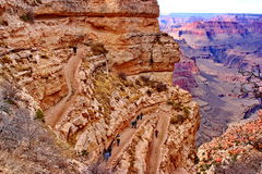 Angel Trail Grand Canyon Arizona intelligente Immagini Stock Libere da Diritti