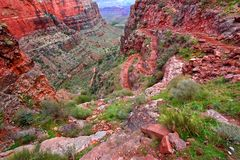 Angel Trail Grand Canyon brillante Fotos de archivo libres de regalías